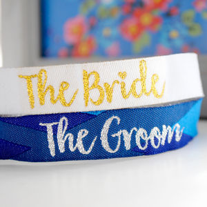 Bride And Groom Wedding Hen Stag Party Wristbands - hen party ideas