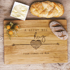 A Great Big Hug Personalised Cutting Serving Board