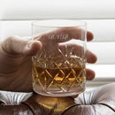 Engraved Crystal Cut Whisky Tumbler