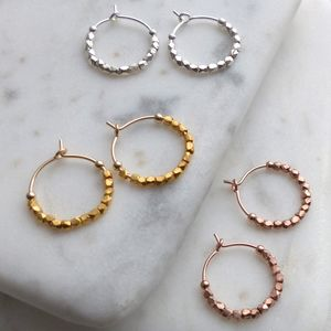 Petite 12 Fair Trade Beads Hoops
