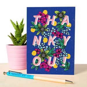 Thank You Botanical Illustrated Card - shop by category