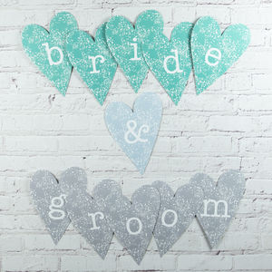 Bride And Groom Heart Decoration - room decorations