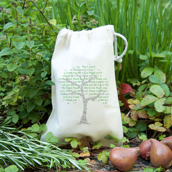 'Tree' Personalised Teacher Gift Bag With Seeds