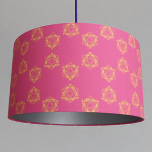 Large Stunning Hot Pink Fabric Lampshade For The Home - lighting