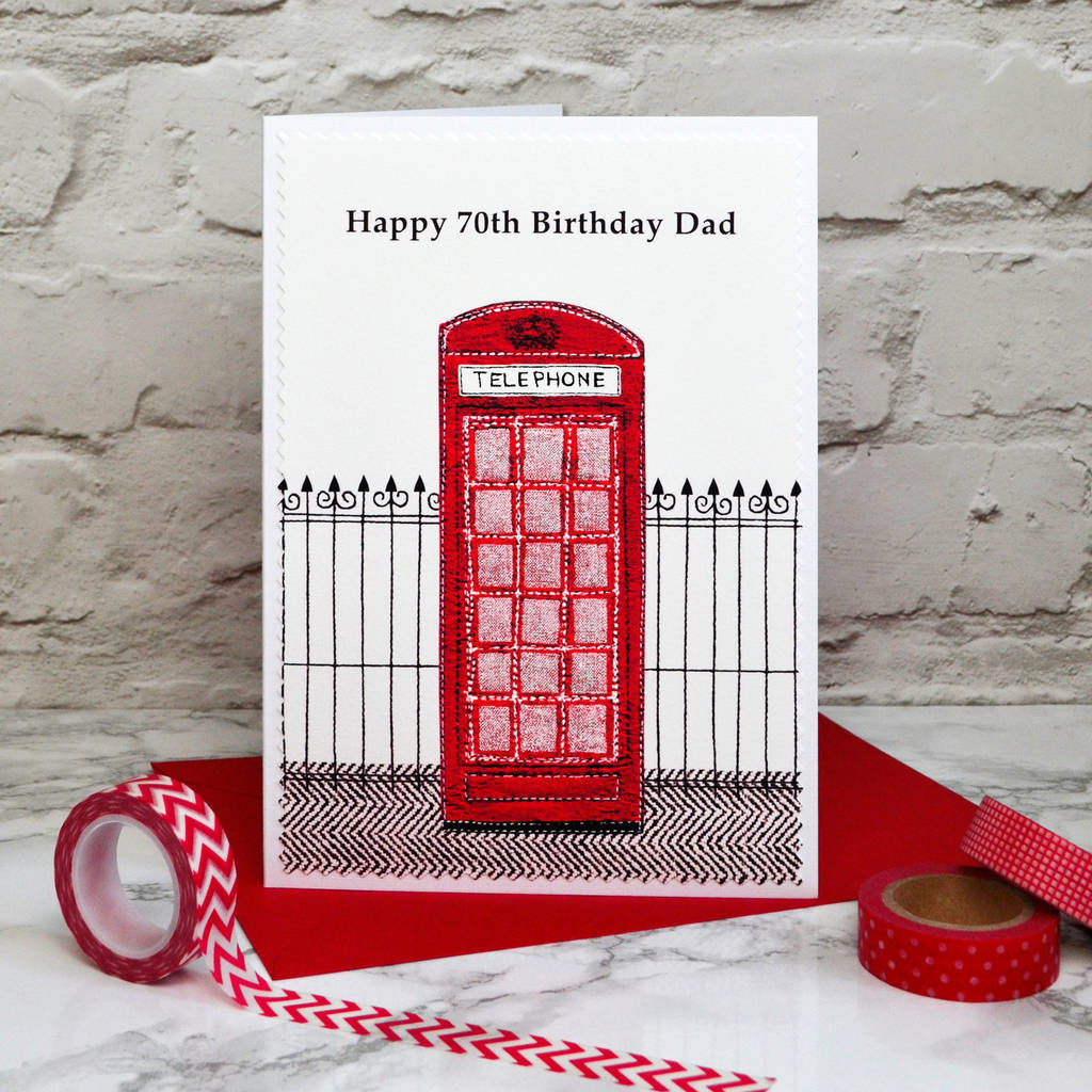 telephone box\' personalised birthday card by jenny arnott cards ...