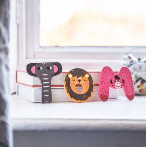 Wooden Cute Animal Letters - personalised gifts