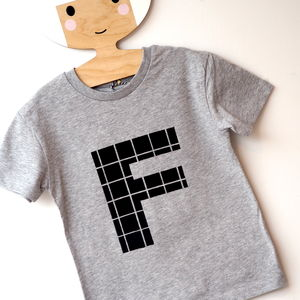 Kids And Babies Personalised Grey Short Sleeve T Shirt - clothing