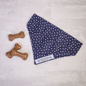 Navy And White Dog Bandana For Girl Or Boy Dogs