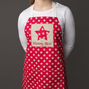 Personalised Adult Star Apron - aprons