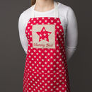Personalised Adult Star Apron