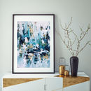 Blue Modern Abstract Art Print From Original Painting