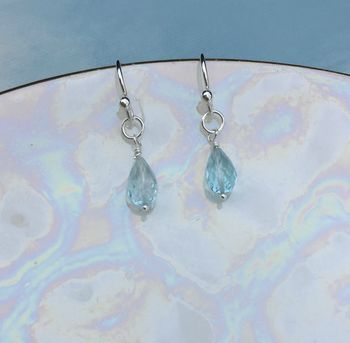 Topaz Sterling Silver Earrings