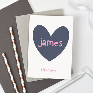 Personalised 'Love You' Valentines Card