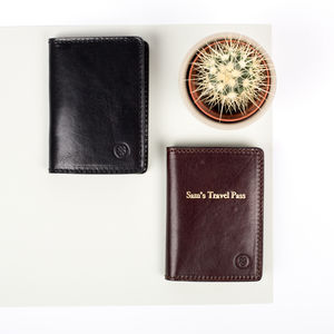 Personalised Leather Oyster Card Holder 'Vallata'