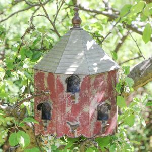 Oakwell Cottage Vintage Garden Bird House