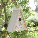 Hill Top Floral Cabin Bird House