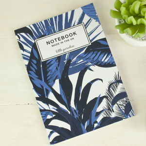 Tropical Palm Print Notebook - shop by personality