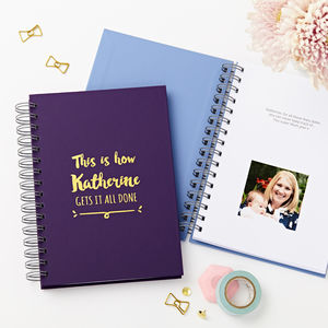 Personalised Hidden Photo Any Date Diary
