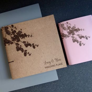 Personalised Leather Wedding Planner