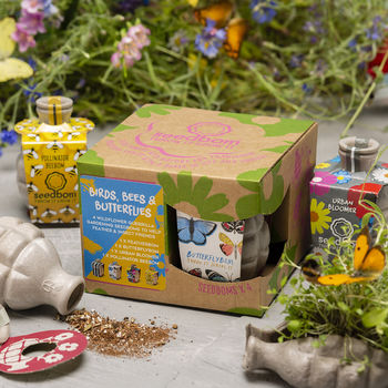 Birds, Bees And Butterflies Seedbom Gift Box