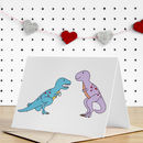 Dinosaur Engagement Greeting Card
