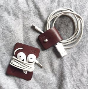Personalised Leather Cable And Headphone Organisers - personalised gifts