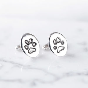 Persoanalised Pet Paw Print Cufflinks