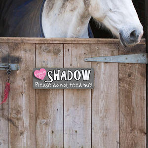 Personalised Stable Door Name Plaque For Horses