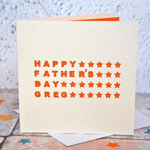 Laser Cut Father's Day Card - father's day cards