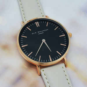 Modern Vintage Personalised Leather Watch - watches