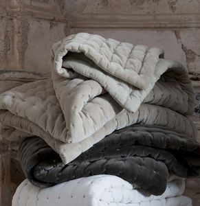 Quilted Velvet Throw - blankets & throws