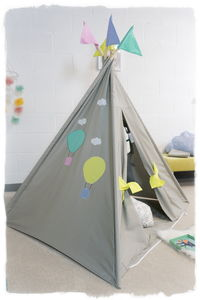 Up Up And Away Hot Air Balloon Teepee Bundle