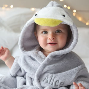 Personalised Penguin Robe - baby's first christmas