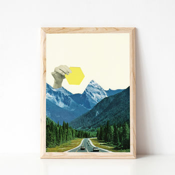 Moving Mountains Surreal Art Print