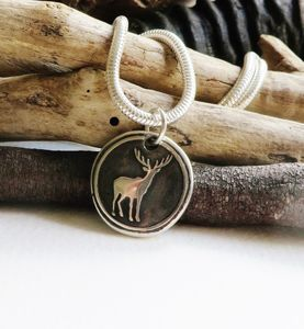 Wax Seal Deer Necklace - necklaces & pendants