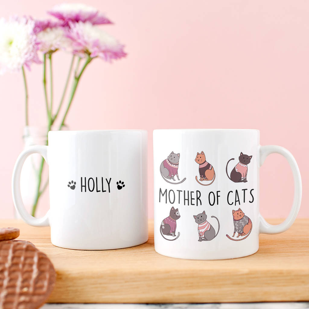 Personalised 'Mother Of Cats' Mug