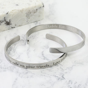 Men's Personalised Stainless Steel Torque Bangle