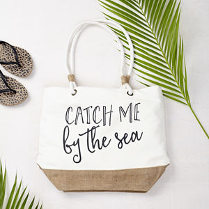 'Catch Me By The Sea' Beach Bag