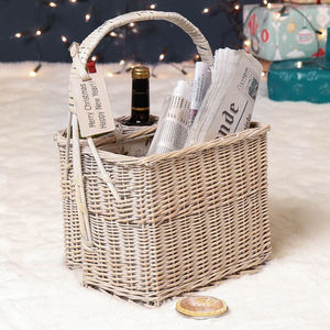 Personalised Country Two Bottle Picnic Basket