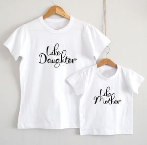 'Like Mother, Like Daughter' T Shirt Set - women's fashion