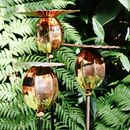 Three Copper Poppy Seedhead Sculptures