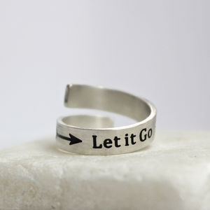 'Let It Go' Adjustable Ring - rings