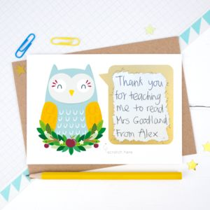 Personalised Thank You Teacher Scratch Card