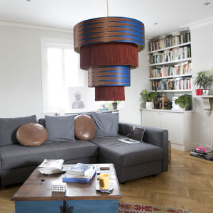 Customised African Pattern Chandelier Lampshade - lampshades