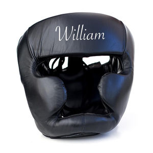 Personalised Leather Head Guard Black - new in home