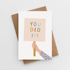 'You Did It!' Well Done Card
