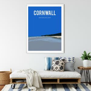 Watergate Bay, Cornwall Fine Art Print Unframed