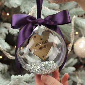 Personalised 'Any Text' Christmas Bauble Decoration
