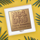 Personalised 'Best Dad' Father's Day Chocolate Card