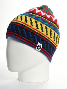 Cormack 'Striangles' Merino Wool Beanie Hat - hats, scarves & gloves